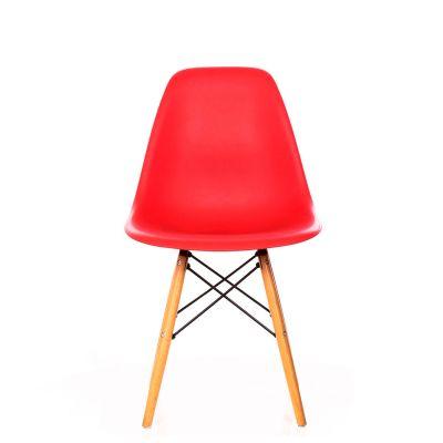 Silla DSW Réplica Eames Rojo