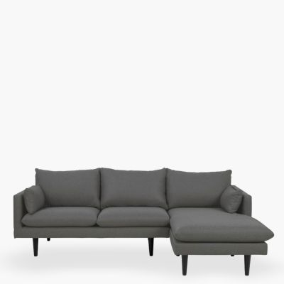 Seccional Chaise DER Sunderland Gris Oscuro