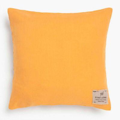 Funda Cojin Lino 45x45 Amarillo