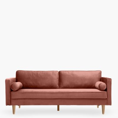 Sofá Polo velvet  3C rose