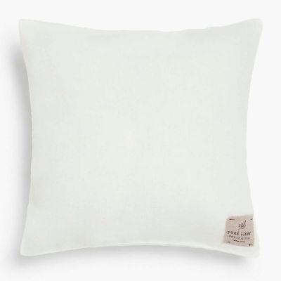 Funda Cojin Lino 45x45 Blanco