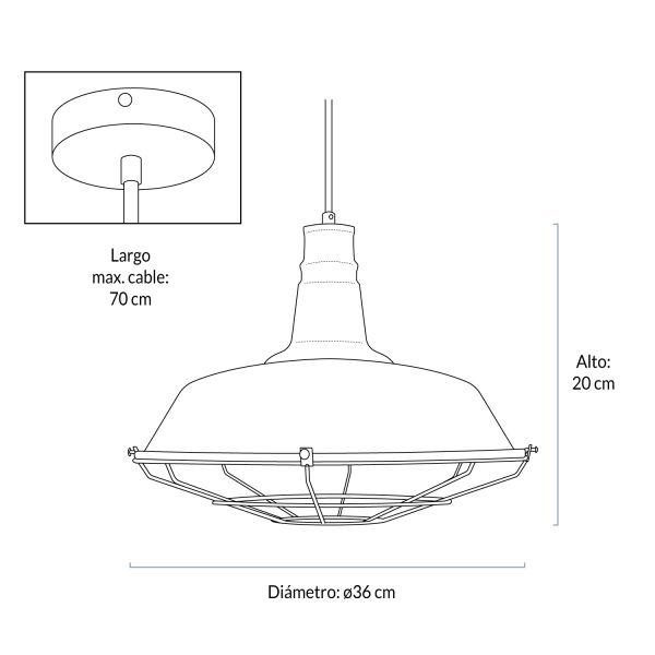 Lámpara de Colgar Dottore Bronce